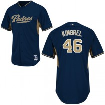 Men's Craig Kimbrel Authentic Jersey - Majestic San Diego Padres #46 BP Cool Base MLB