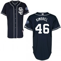 Youth Majestic San Diego Padres #46 Craig Kimbrel Authentic Alternate Cool Base MLB Jersey